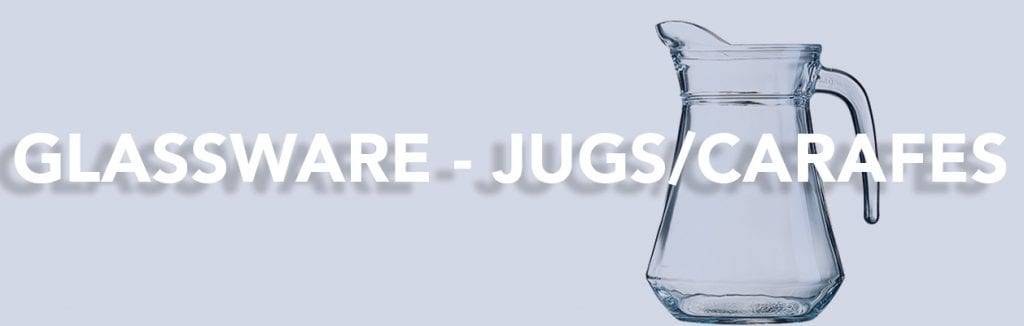 Jug Carafes Glassware for the catering industry