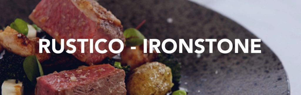 Rustico Stoneware Ironstone crockery for the catering industry